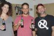 שאנן סטריט, ניר גל ויעל ירמוך מטמפו במהלך הביקור בסטודיו (צילום: שוקה כהן)